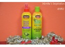 African Pride Olive Miracle Braid sheen spray and Moisturizer lotion